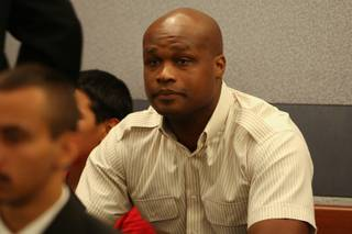 Former NBA all-star Antoine Walker appears in court for his arraignment hearing on failing to repay $900,000 in gambling debts Monday, June 14, at the Regional Justice Center.