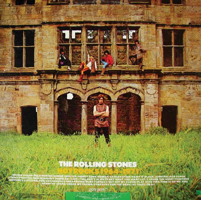 "The cover of ""Hot Rocks"" by The Rolling Stones."
