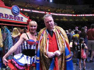 Circus ringmaster Kevin Burke at The Orleans.
