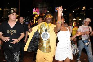 Flavor Flav Performs at Hard Rock Cafe Strip