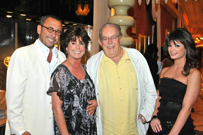 Victor Drai, Tina Sinatra, Robin Leach and Laura Croft at Sinatra in the Encore on June 18, 2010.
