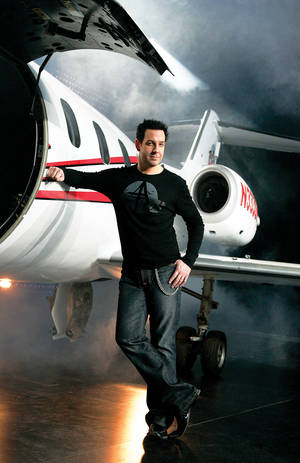 Steve Wyrick poses with his plane.