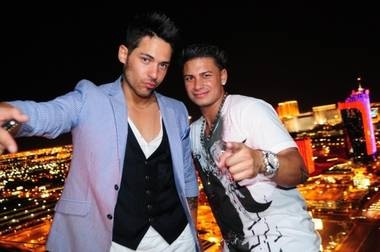 J-Roc and DJ Pauly D at the Palms.