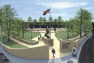 A rendering of the Las Vegas Veterans Memorial designed by Douwe Blumberg.