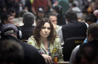 Annie Duke of Los Angeles competes in the $10,000 H.O.R.S.E. championship during the 41st Annual World Series of Poker at the Rio Thursday, June 24, 2010. In 2004 Duke won the $2,000 Omaha Hi-Low Split-8 or Better and the Tournament of Champions at the WSOP. This year she won the National Heads-Up Poker Championship, an annual invitation-only tournament produced by NBC television.