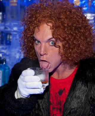 Carrot Top at Minus 5 Lounge in Mandalay Bay on June 28, 2010.