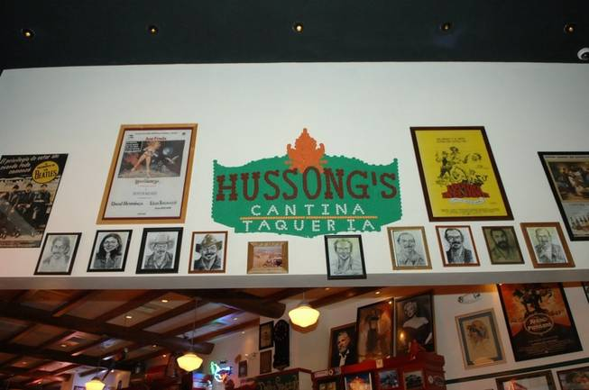 The Charcoal Hall of Fame at Hussong's Cantina in Mandalay Bay on June 28, 2010.