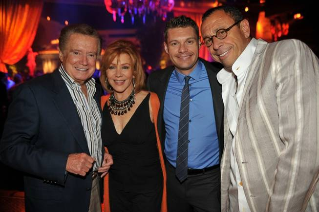 Regis Philbin, Joy Philbin, Ryan Seacrest and Victor Drai at XS in the Encore.