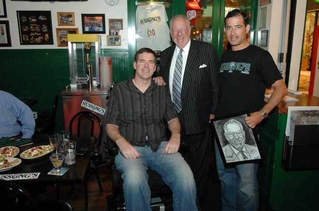 Scott Frost, Mayor Oscar Goodman and Jeff Marks at Hussong's ...