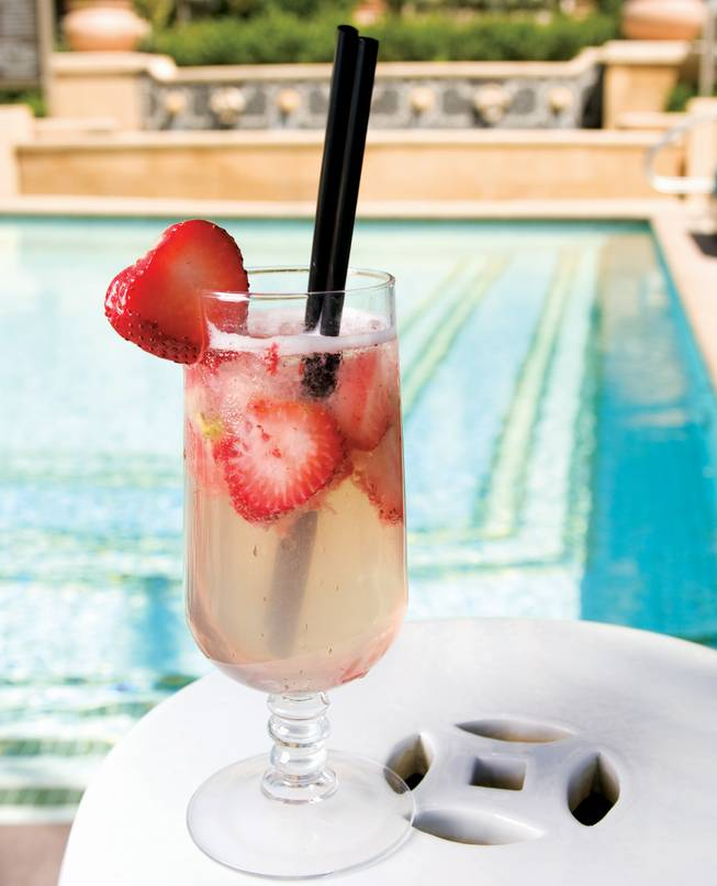 There's nothing more important than staying hydrated once the mercury hits three digits, and Azure's collection of poolside cocktails are that refreshing antidote to the desert swelter. Available only at Azure, the Strawberry Smash pairs fresh strawberries with Bombay Sapphire gin, adds in some agave nectar and fresh lemon juice for that sweet-and-sour flavor and tops it all off with soda water.