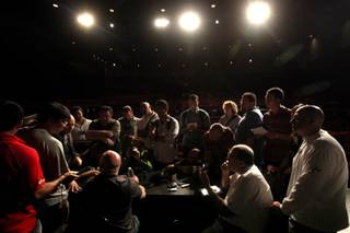 UFC President Dana White talks with the media Thursday during the UFC 116 pre-fight press conference at MGM Grand Hotel & Casino.