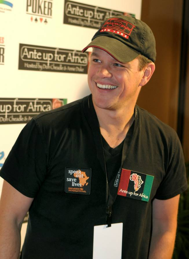 Matt Damon at Ante Up for Africa at The Rio on July 2, 2010.