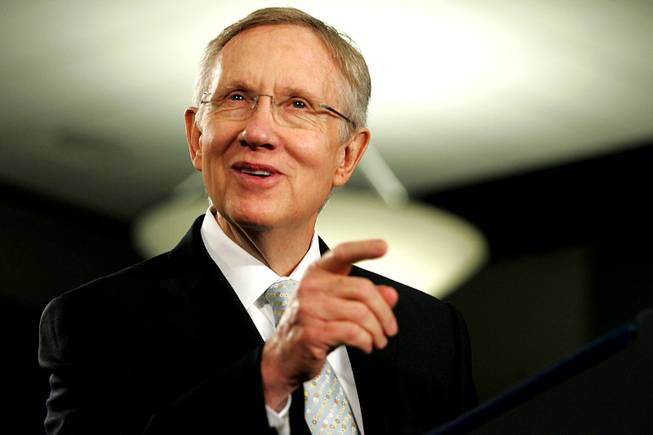 Senator Harry Reid introduces President Barack Obama for a speech Friday, July 9, 2010 at UNLV.