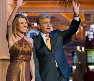 Vanna White and Pat Sajack host Wheel of Fortune at The Venetian on July 13, 2010.