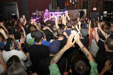 MXPX perform at Wasted Space in the Hard Rock Hotel.