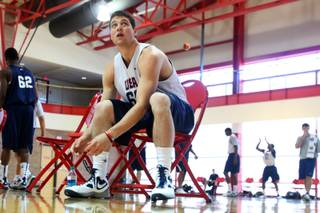 Jimmer Fredette practices on Tuesday, July 20, 2010, at the UNLV Recreation and Wellness Center. The BYU star guard is a member of the USA Select team, which is comprised of college standouts training with Team USA this week in Las Vegas