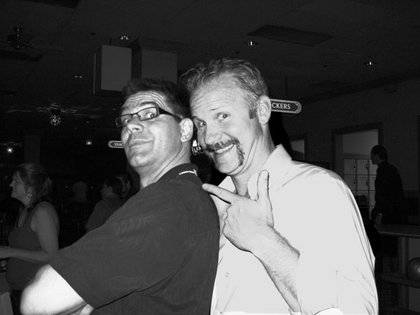 Me and Morgan Spurlock, the man who helped inspire this adventure, bowling at the Gold Coast.