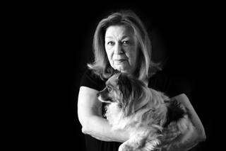 Mary Schwartz was photographed with her dog Freckles in her Las Vegas home July 22, 2010. Mickey O'Neill, her 61-year old boyfriend and companion of 18 years, died June 14, 2010 of massive gastrointestinal hemorrhage after laparoscopic gall bladder removal surgery on June 2, 2010.
