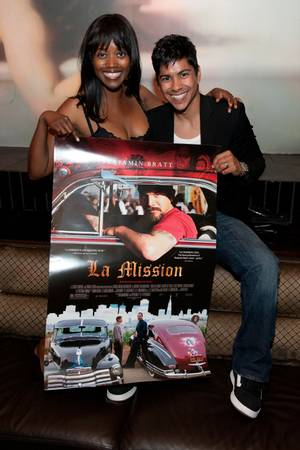Erika Alexander and Jeremy Ray Valdez promote their film <em>La Mission</em> at Lavo in the Palazzo on July 22, 2010.