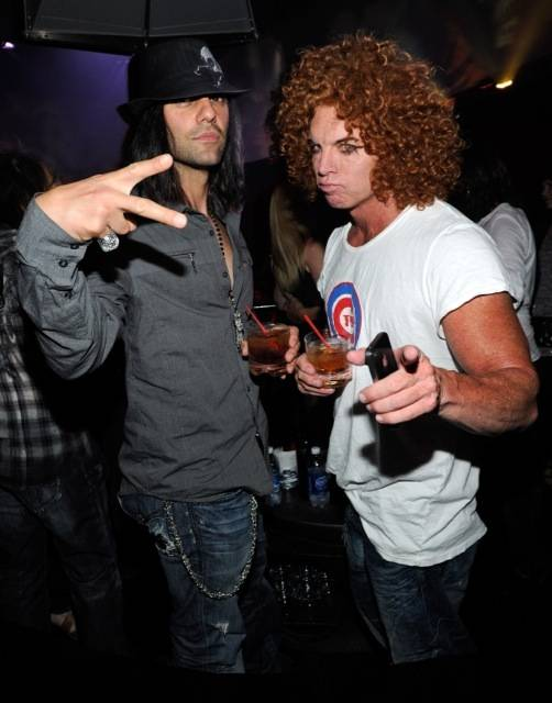 Criss Angel and Carrot Top at Rok Vegas in the ...