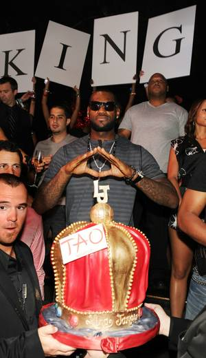 LeBron James host the party at Tao in The Venetian on July 24, 2010.