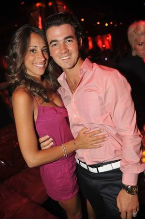Danielle and Kevin Jonas at Tryst in the Wynn.