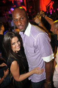 Khloe Kardashian and Lamar Odom at XS in the Encore.