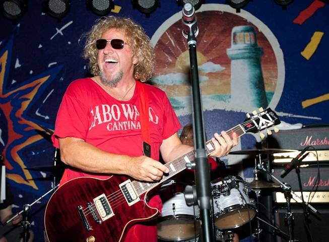 Sammy Hagar hosts and performs with The Wabos at his official pre-concert party at Cabo Wabo Cantina in The Miracle Mile Shops at Planet Hollywood on July 30, 2010.