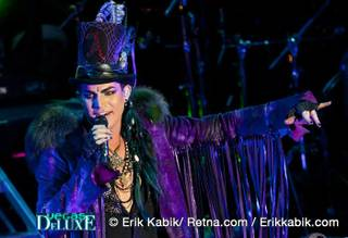 Adam Lambert performs at Mandalay Bay on July 31, 2010.