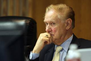 Clark County Schools Superintendent Walt Rulffes listens during a School Board Meeting Wednesday, August 4, 2010.  Clark County Board of School Trustees voted 5-to-1 to keep the current school superintendent until January while the search for a replacement continues.