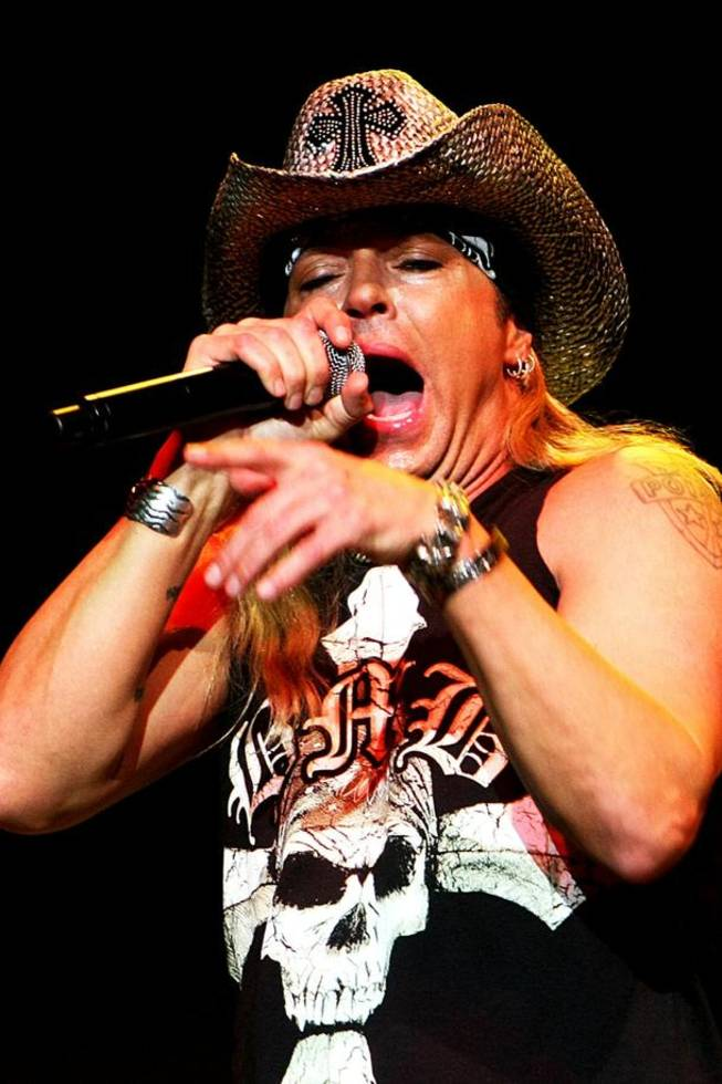 Bret Michaels at The Pearl in the Palms on Jan. 31, 2009.