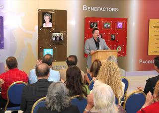 Terry Fator discusses his $1 million donation to Opportunity Village on Aug. 4, 2010.