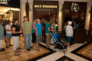 The grand opening of Max Brenner: Chocolate by the Bald Man at The Forum Shops at Caesars Palace on Aug. 3, 2010.