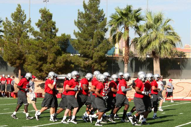UNLV fall camp practice starting Saturday at Rebel Park on ...