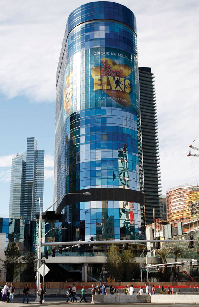 The Harmon Hotel at CityCenter is shown on the Las Vegas Strip.
