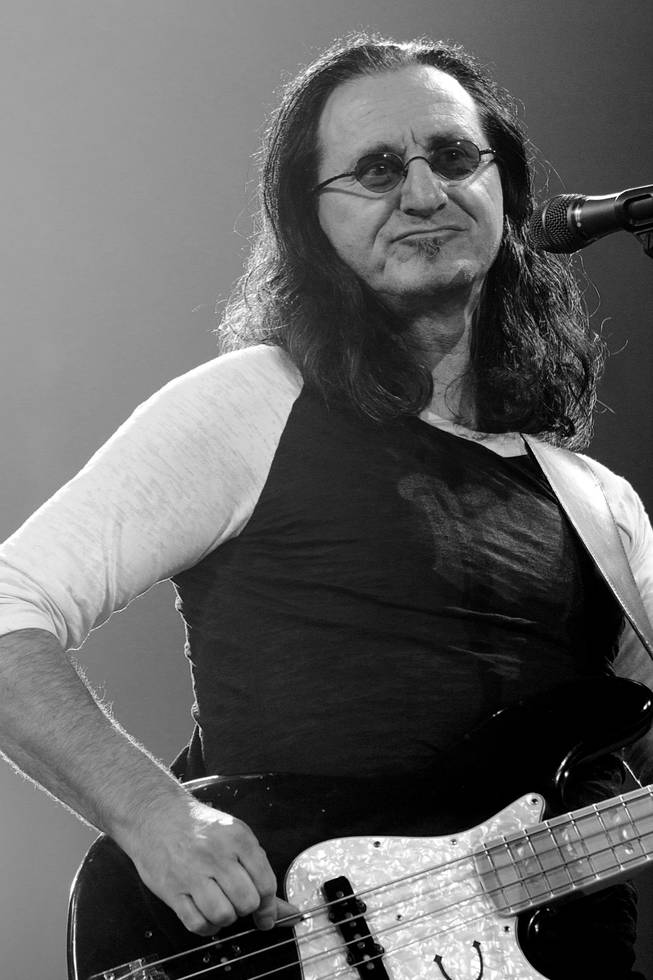 Rush vocalist and bassist Geddy Lee, shown at MGM Grand Garden Arena.