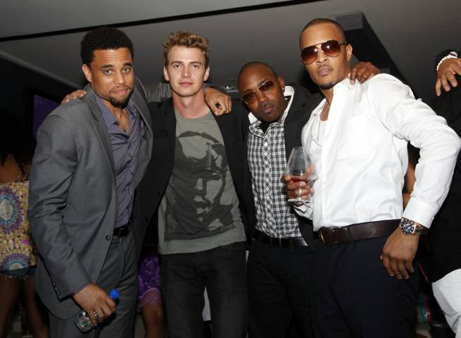 Michael Ealy, Hayden Christensen, producer Will Packer and T.I. at ...