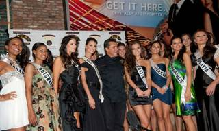The contestants of the 2010 Miss Universe competition at Todd English P.U.B. at Crystals in CityCenter.