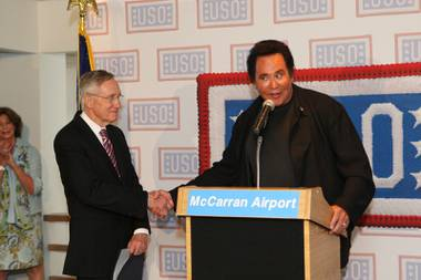 John Katsilometes checks in with Wayne Newton, a longtime supporter of the USO who recently celebrated the organization's 75th anniversary.