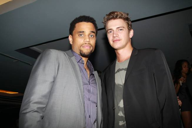 Michael Ealy and Hayden Christensen at the Las Vegas premiere ...