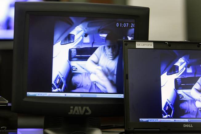 A video, allegedly showing Trevon Cole making an drug sale, is played during a coroner's inquest Friday, August 20, 2010. Cole was shot and killed by Metro Police in June.