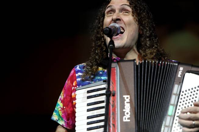 Weird Al Yankovic performs at the Henderson Pavilion Friday, August 20, 2010.
