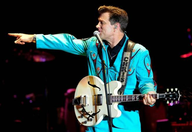 Chris Isaak performs at M Resort on Aug. 21, 2010.
