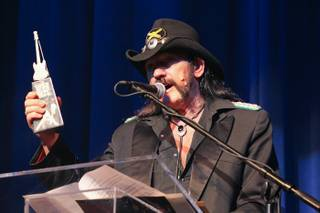 Lemmy Kilmister at the Vegas Rocks Magazine Awards at the Las Vegas Hilton on Aug. 22, 2010.