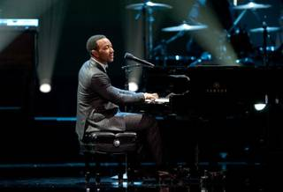 John Legend performs at the 2010 Miss Universe Pageant at Mandalay Bay on Aug. 23, 2010.