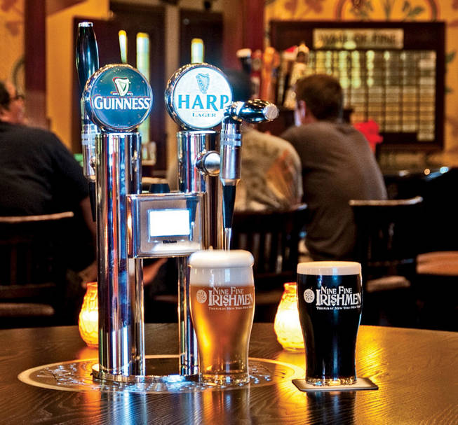 Pour your own beer at New York-New York's Nine Fine Irishmen.