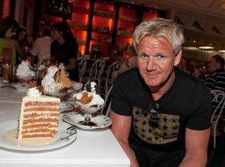 Chef Gordon Ramsay at Serendipity 3 at Caesars Palace on Aug. 24, 2010.