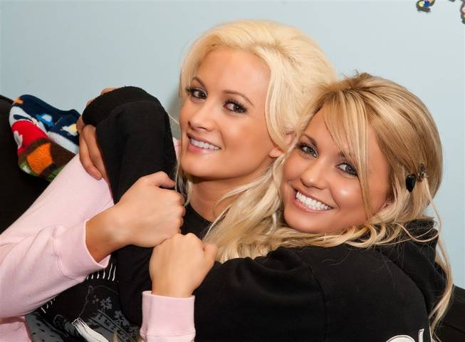 Holly Madison and Angel Porrino.