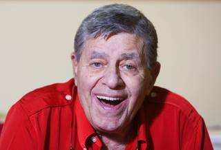 Entertainer Jerry Lewis, Muscular Dystrophy Association national chairman, smiles during an interview at the South Point Tuesday, Aug. 31, 2010. The 2010 Jerry Lewis MDA Telethon starts Sunday at 6 p.m. and concludes on Labor Day at 3:30 p.m. MDA is the nonprofit health agency dedicated to curing muscular dystrophy, ALS  and related diseases by funding worldwide research.