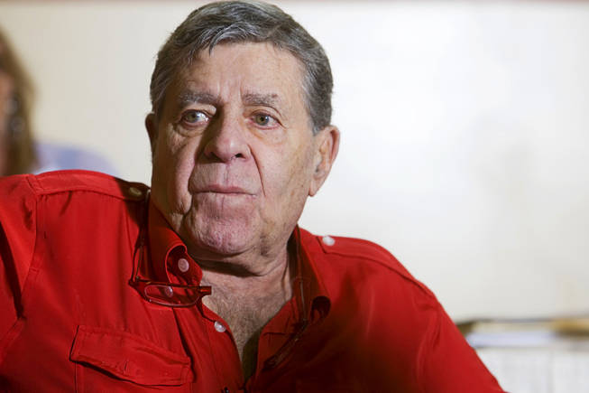 Entertainer Jerry Lewis, Muscular Dystrophy Association national chairman, is shown during an interview at the South Point Tuesday, August 31, 2010. The 2010 Jerry Lewis MDA Telethon starts Sunday at 6 p.m. and concludes on Labor Day at 3:30 p.m. MDA is the nonprofit health agency dedicated to curing muscular dystrophy, ALS  and related diseases by funding worldwide research. STEVE MARCUS / LAS VEGAS SUN